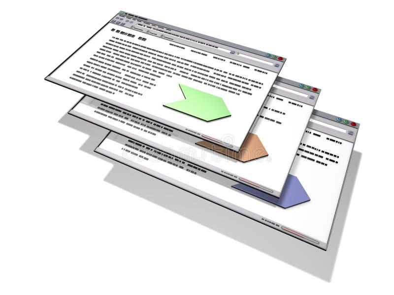 Interface de utilizador gráfica ilustração royalty free