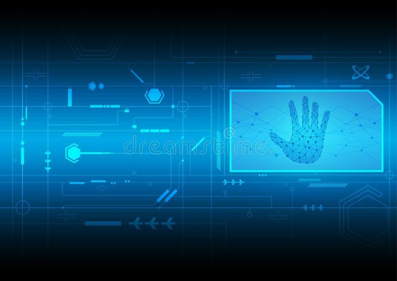 Interface digitale technologie vector illustratie