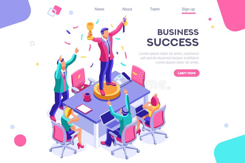 Competition Interface Earn Application Banner. Header, screen increase, competition interface. Earn application, can use for web banner, infographics, hero vector illustration
