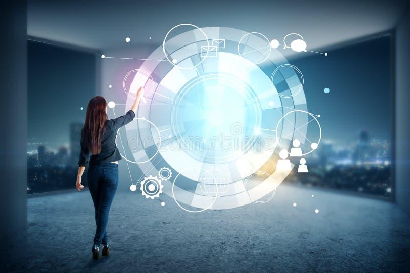 Interface en toekomstig concept royalty-vrije stock afbeeldingen
