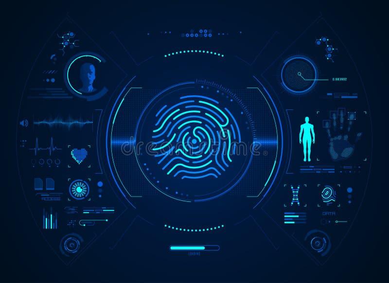 Interface Fingerprint illustration de vecteur