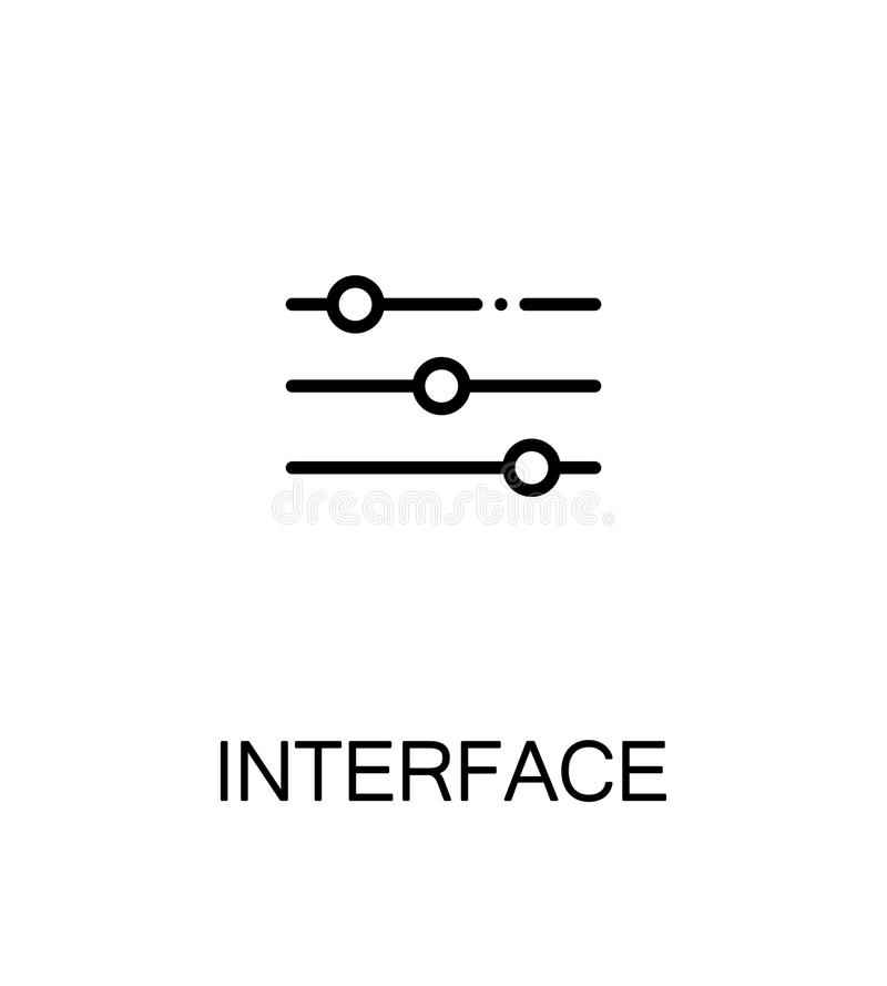 Interface flat icon royalty free illustration