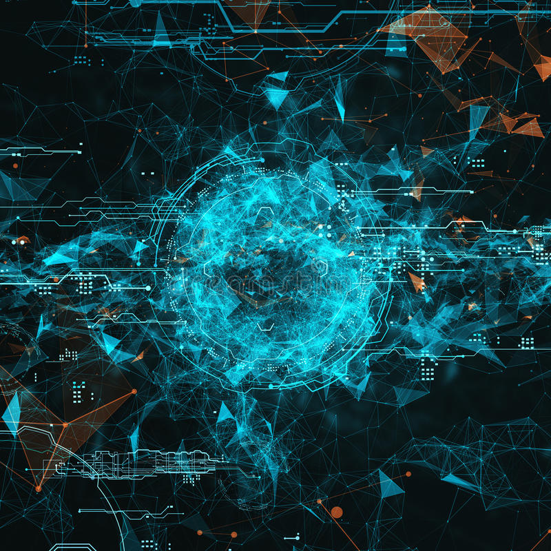 Interface futuriste d'hologramme illustration stock