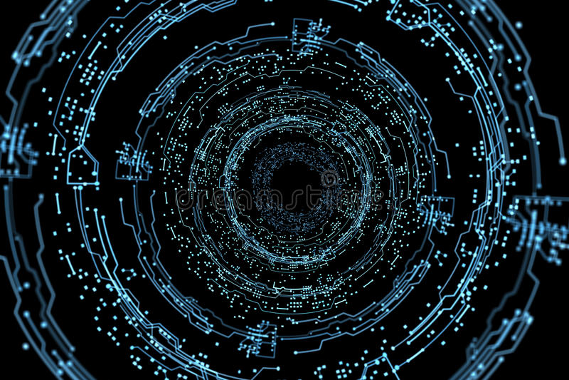 Interface futuriste d'hologramme photos libres de droits