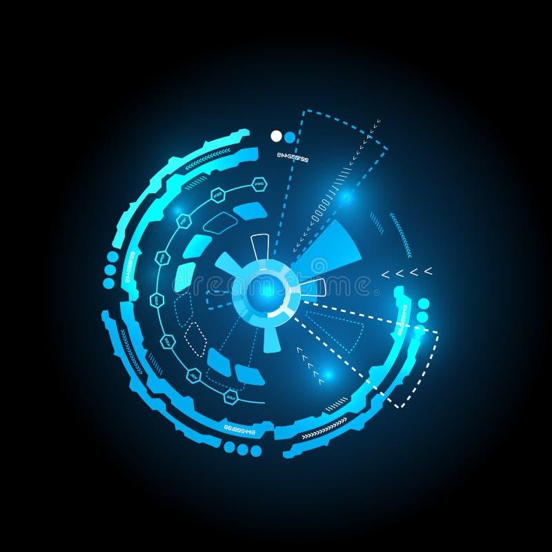 Interface futuriste, HUD, fond de vecteur illustration de vecteur