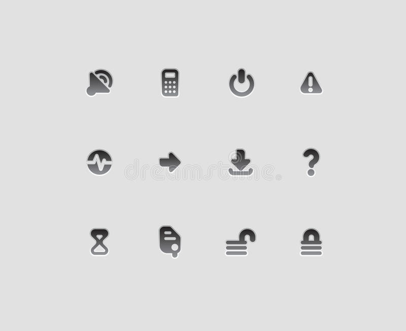 Interface icons. For computer programs and web-design. Vector illustration royalty free illustration