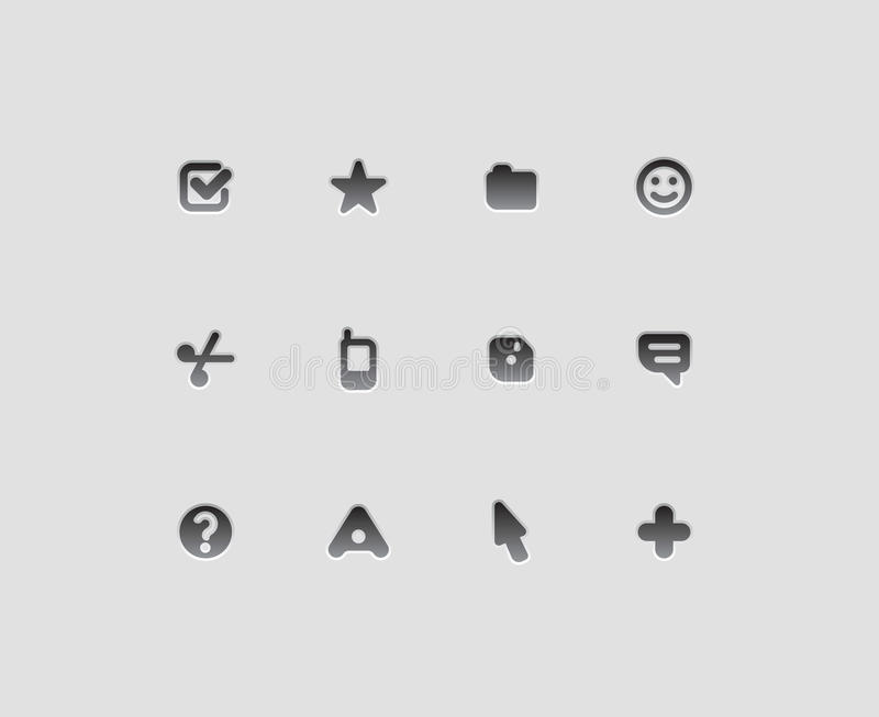 Interface icons. For computer programs and web-design. Vector illustration stock illustration
