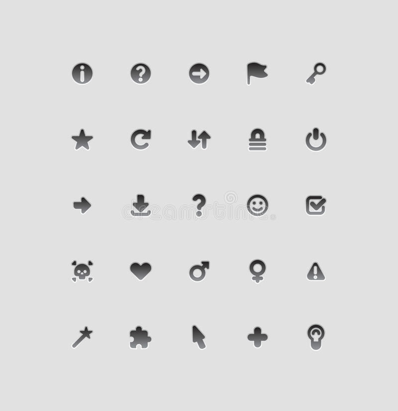 Interface icons for signs. And symbols. Vector illustration vector illustration
