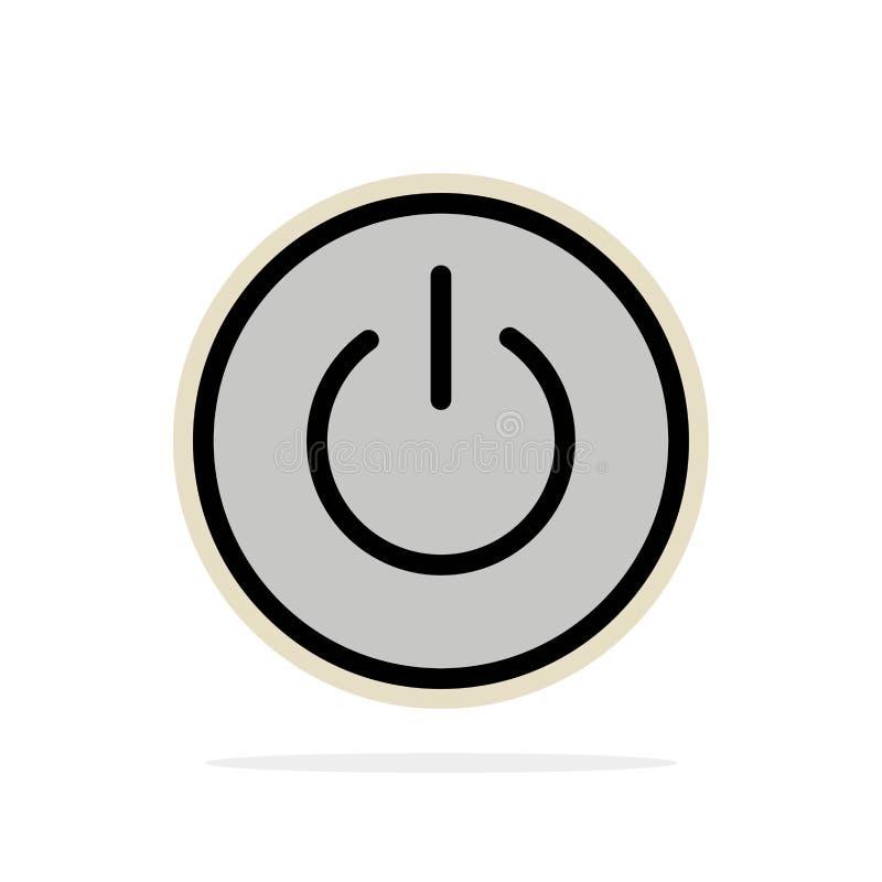 Interface, Macht, Ui, van de Achtergrond gebruikers Abstract Cirkel Vlak kleurenpictogram royalty-vrije illustratie