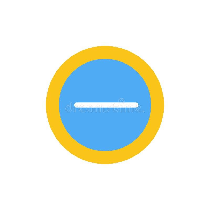 Interface, Minus, Pictogram van de Gebruikers het Vlakke Kleur Het vectormalplaatje van de pictogrambanner vector illustratie