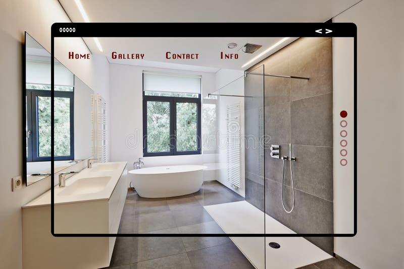 Interface Moderne De Web De Site Pour La Galerie Salle De ...