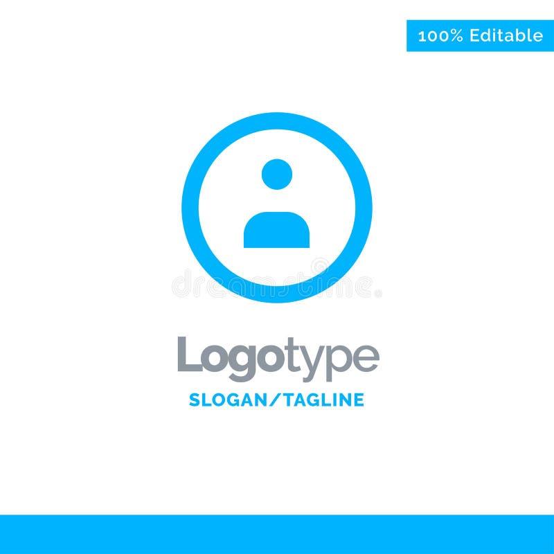 Interface, Navigatie, Gebruiker Blauw Stevig Logo Template Plaats voor Tagline stock illustratie