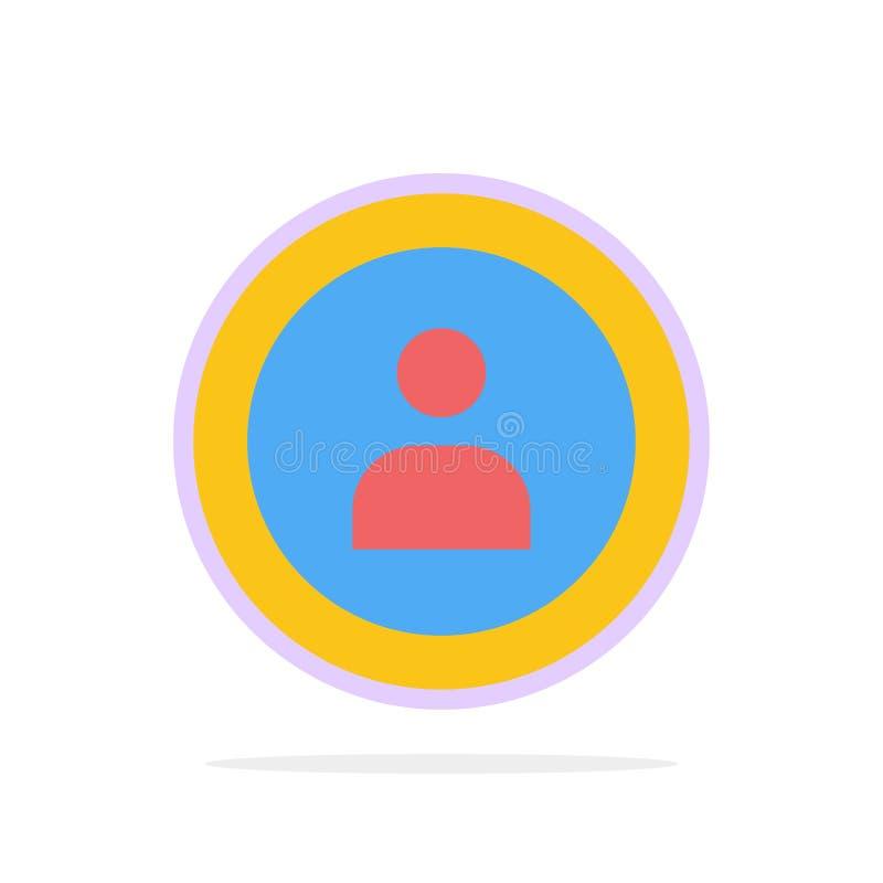 Interface, Navigatie, van de Achtergrond gebruikers Abstract Cirkel Vlak kleurenpictogram stock illustratie