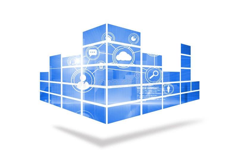Interface op het abstracte scherm stock illustratie