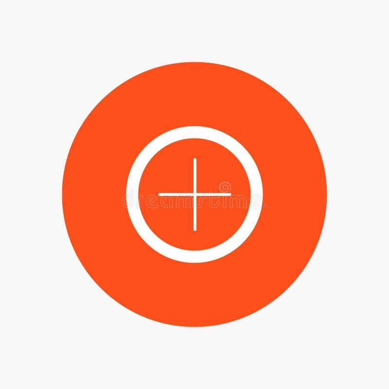 Interface, plus, Gebruiker stock illustratie