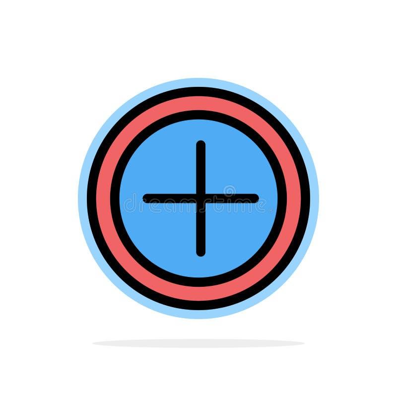 Interface, plus, van de Achtergrond gebruikers Abstract Cirkel Vlak kleurenpictogram royalty-vrije illustratie