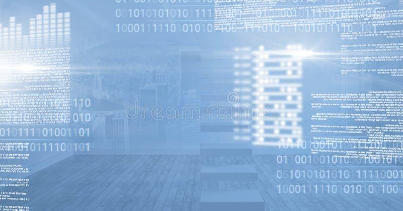 Interface rougeoyante de technologie numérique illustration stock