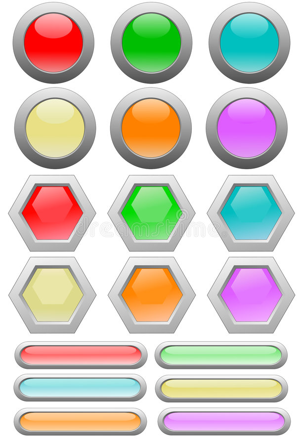 Download Interface Set stock vector. Image of part, hexagon, reflect - 6591086