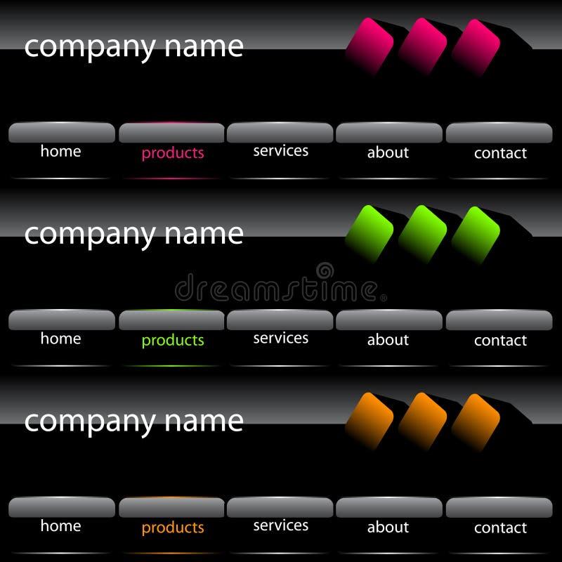 Interface utilisateur de site Web illustration libre de droits