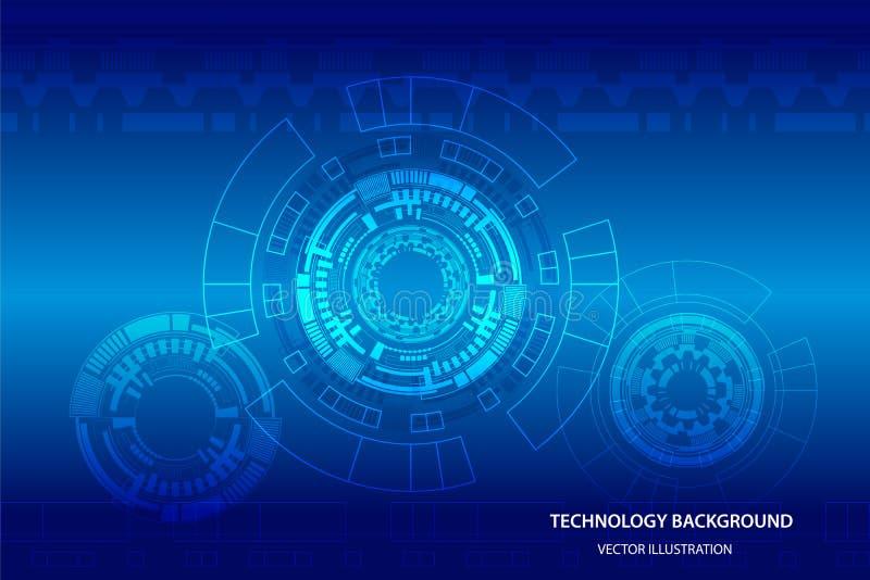 Interface utilisateurs futuriste de Sci fi, HUD, fond abstrait de technologie, illustration de vecteur illustration stock