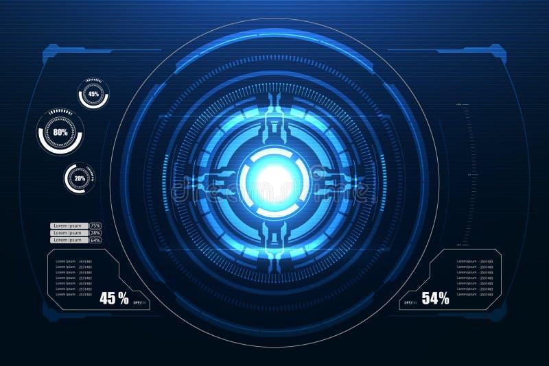 Interface utilisateurs futuriste de Sci fi Illustration de vecteur illustration libre de droits