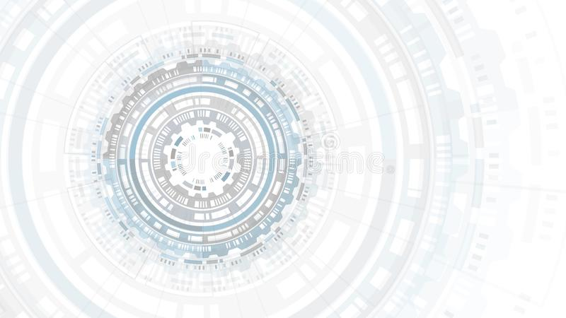 Interface utilisateurs futuriste de structure abstraite de cercle de HUD Fond de la Science Fond abstrait de pointe Technologie f image stock