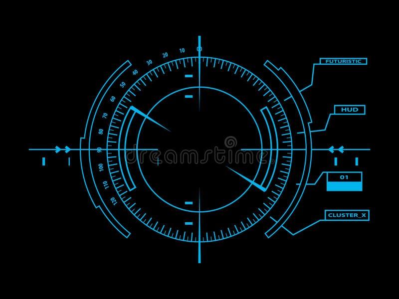 Interface utilisateurs futuriste HUD illustration de vecteur