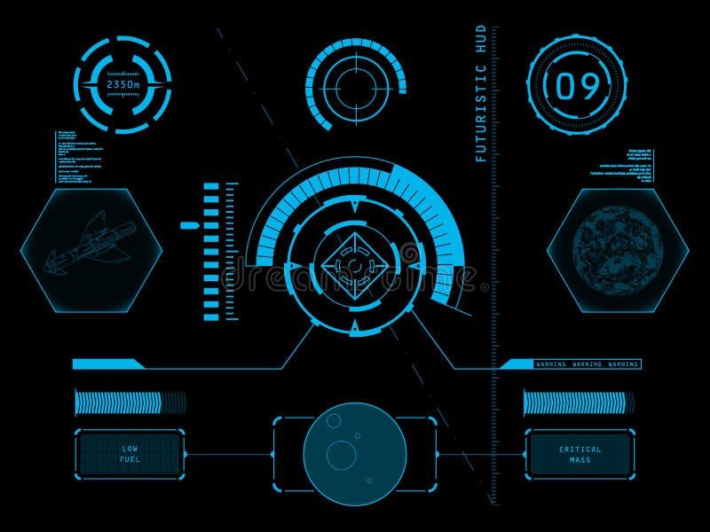 Interface utilisateurs futuriste HUD