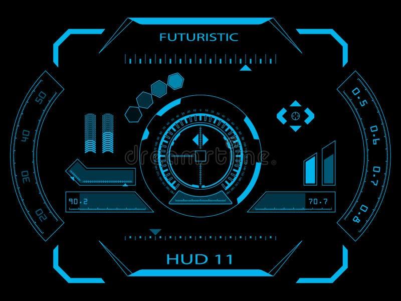 Interface utilisateurs futuriste HUD illustration stock