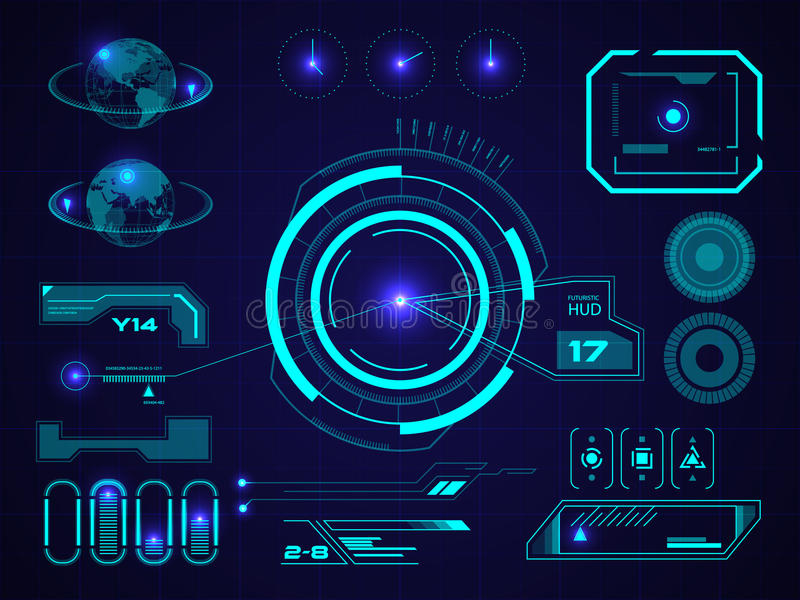 Interface utilisateurs futuriste HUD illustration libre de droits