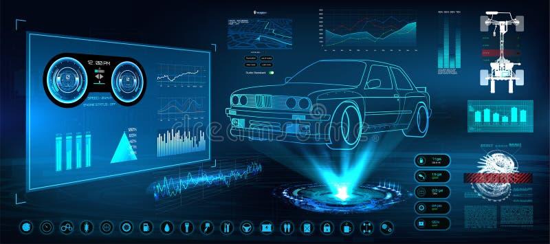 Interface utilisateurs futuriste HUD UI illustration libre de droits