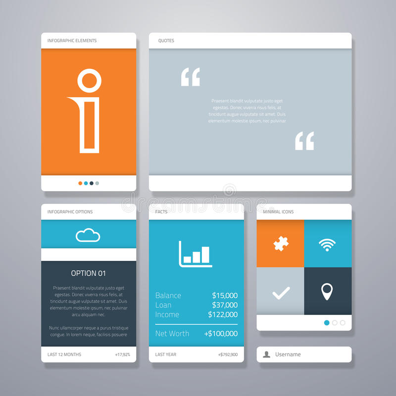 Interface utilisateurs (ui) et élément infographic de vecteur illustration de vecteur