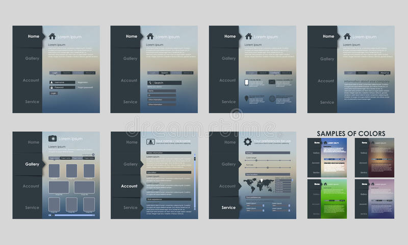Interface van het ontwerp de vectormalplaatje royalty-vrije illustratie