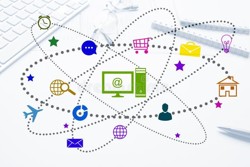 Interfaceontwerp voor mobiele en Webtoepassing royalty-vrije stock afbeelding