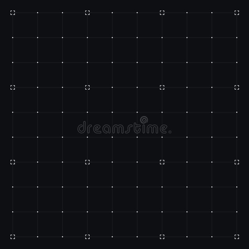 Interfaz de HUD con rejilla stock de ilustración