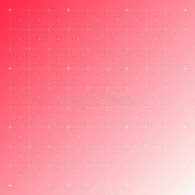 Interfaz de HUD con rejilla ilustración del vector