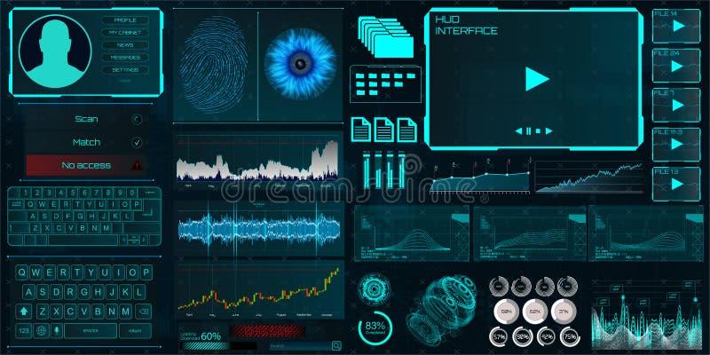 Interfaz de HUD UI para el negocio app libre illustration