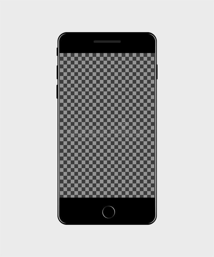 Interfaz de la pantalla del teléfono móvil en estilo de la maqueta Icono móvil para los medios sociales Vector ilustración del vector