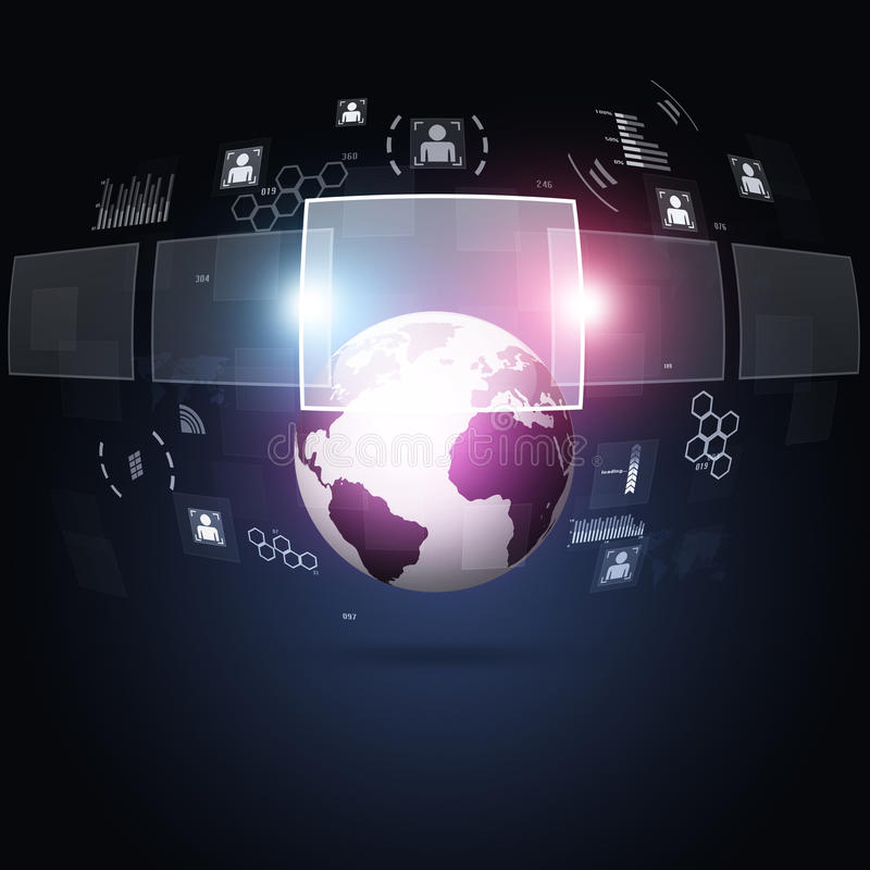 Interfaz de la tecnología de Digitaces libre illustration