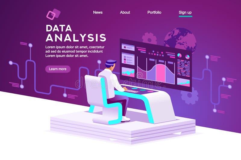 Interfaz de las compras y vector de las estadísticas stock de ilustración