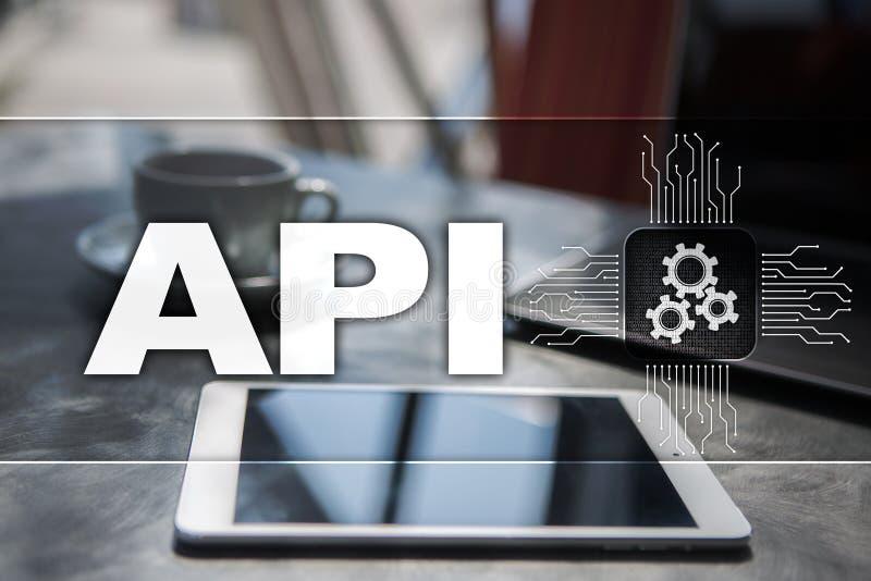 Interfaz de programación de uso API Concepto del desarrollo de programas fotos de archivo libres de regalías