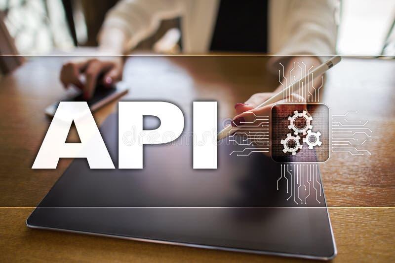 Interfaz de programación de uso API Concepto del desarrollo de programas fotografía de archivo