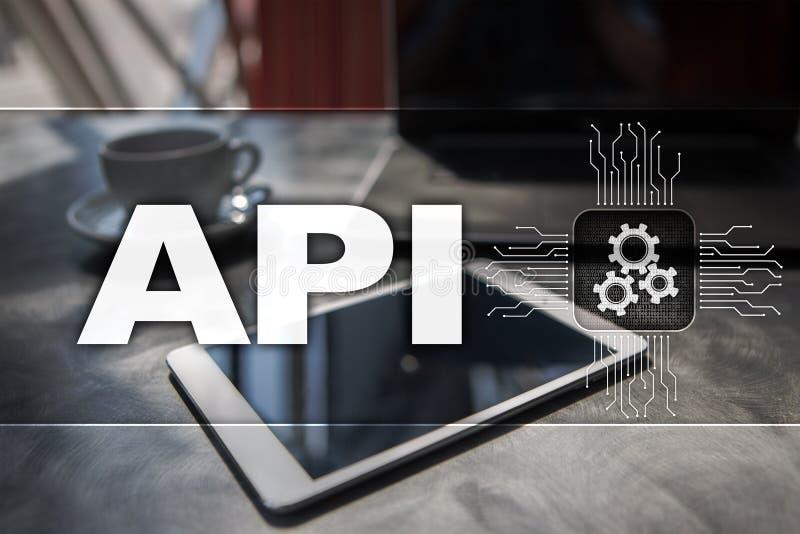 Interfaz de programación de uso API Concepto del desarrollo de programas fotos de archivo