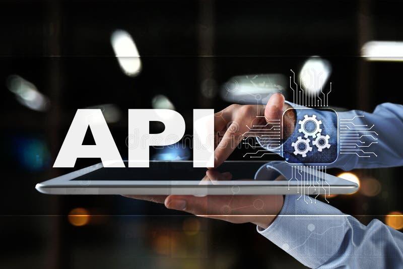 Interfaz de programación de uso API Concepto del desarrollo de programas foto de archivo libre de regalías