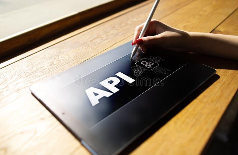 Interfaz de programación de uso API Concepto del desarrollo de programas fotografía de archivo libre de regalías
