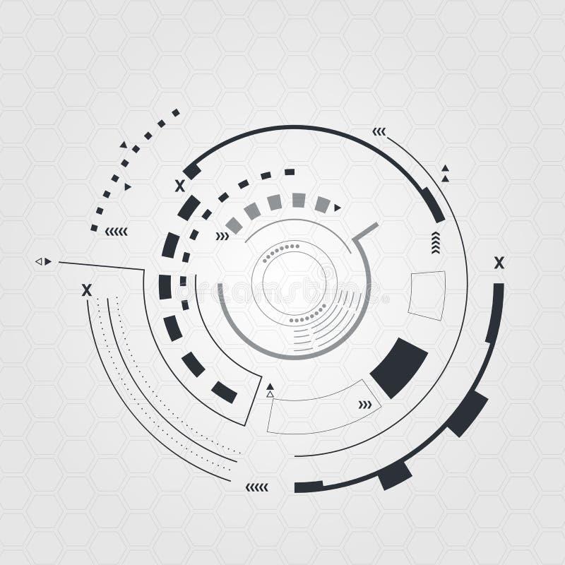 Interfaz de usuario futurista de Digitaces, HUD para el app y web ejemplo abstracto del vector ilustración del vector