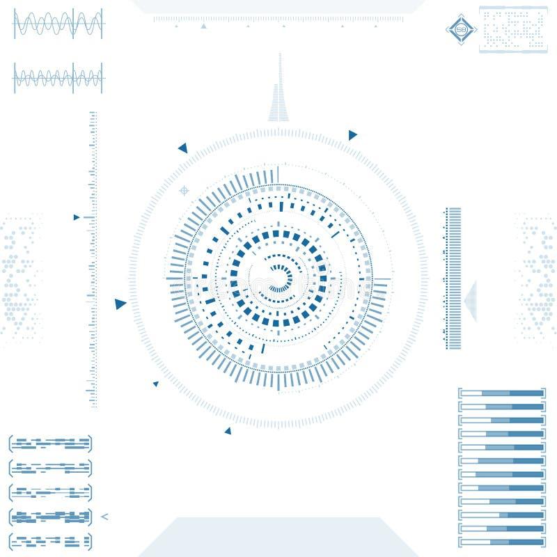 Interfaz de usuario gráfica futurista ilustración del vector