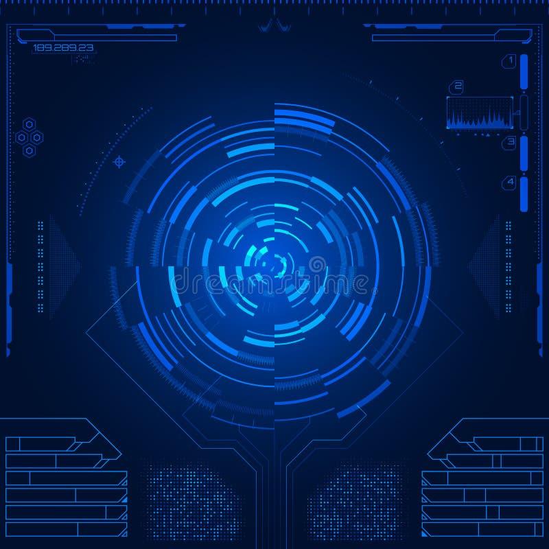 Interfaz de usuario gráfica futurista stock de ilustración