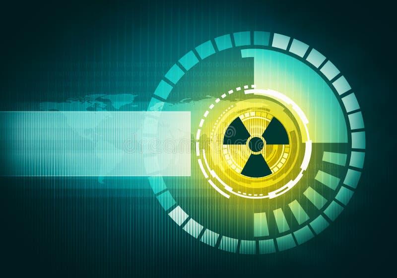 Interfaz de usuario gráfica radiativa futurista atómica del tacto stock de ilustración