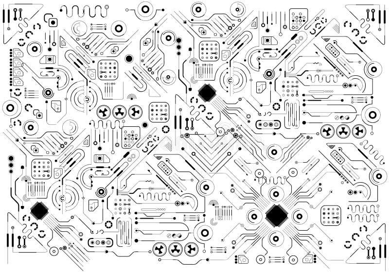 Interfaz de usuario gráfica virtual futurista del tacto, HUD fotos de archivo libres de regalías